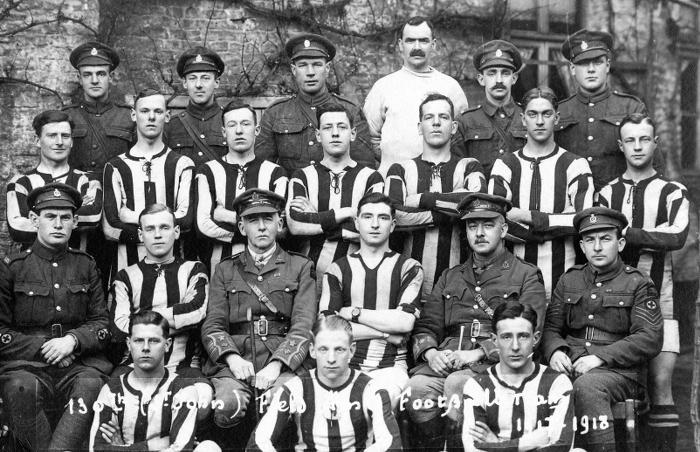 130th (St John) Field Ambulance football team 1917-18