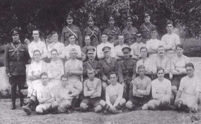 130th Fld Amb Rugby squad 1918-19