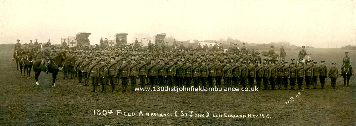 130th (St John) Field Ambulance ready for war 1915