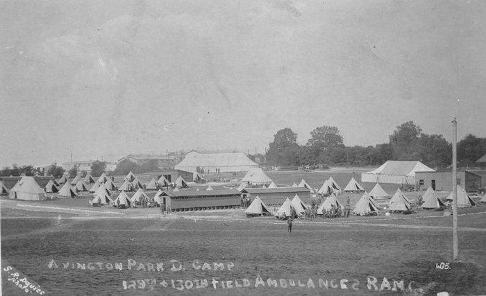 129th & 130th Fld Amb in tented camp at Avington Park Camp 1915