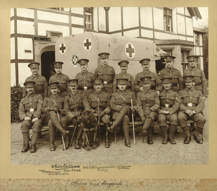 130th (St John) Field Ambulance Officers and Sargeants